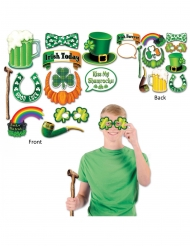 Kit photobooth Saint Patrick 12 accessoires