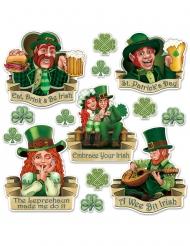 Cutouts en carton Saint Patrick 8 à 37 cm