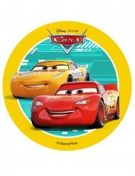 Disque en azyme Cars™ jaune 14,5 cm