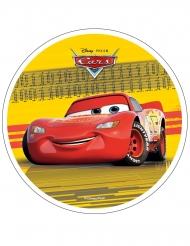 Disque en azyme Cars™ jaune 21 cm