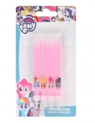 4 Bougies d'anniversaire My Little Pony™ roses 9 cm