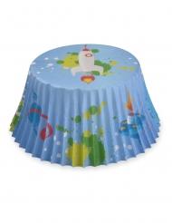 50 Moules à cupcake en papier fusée astronaute 7 cm