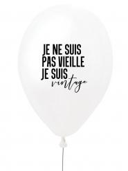Ballon en latex je ne suis pas vieille je suis vintage blanc et noir 27 cm