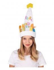 Chapeau musical et dansant gâteau d'anniversaire adulte