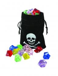 Bourse de pirate avec fausses pierres précieuses