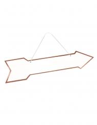 Flèche directionnelle rose gold 41 x 10 cm