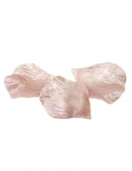 50 Pétales de rose en tissu rose gold 5,5 x 3,5 cm