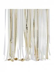 Décor de rubans blancs, crème et dorés
