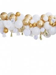 Kit arche de 80 ballons et 18 suspensions dorées 4 m