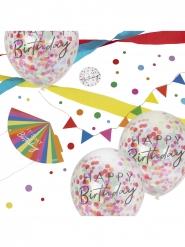 Kit de décoration d'anniversaire 8 pièces