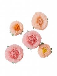 5 Fleurs en papier 32,5-25,5 cm