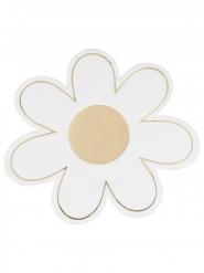16 Serviettes en papier marguerite dorée 16 x 16 cm