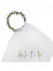 Voile de mariée végétal Bride to be doré