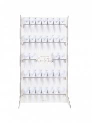 Stand à confettis en carton avec 32 cônes 77 x 42 cm