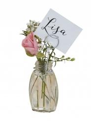 4 Petits vases marque-places 7 x 11 cm