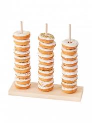 Présentoir pile de donuts en bois 38 cm x 37 cm
