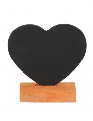 Marque-place ardoise cœur 7 x 7 cm