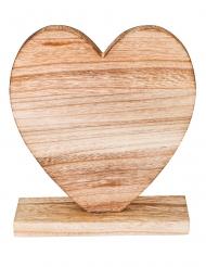 Centre de table cœur en bois 20,5 x 18,5 cm