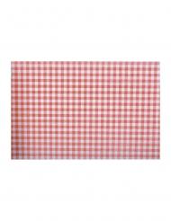 Chemin de table à carreaux vichy rouge 30 cm x 5 m