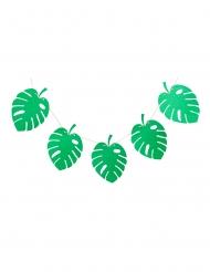 Guirlande 10 feuilles tropicales vert pailleté 24 x 17,5 cm 3 m