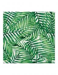 20 Serviettes en papier feuilles de palmier 33 x 33 cm