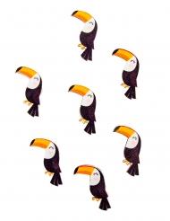 12 Confettis en bois adhésifs toucan mignon 3 x 2 cm