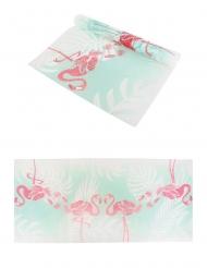 Chemin de table en tissu non tissé élégant flamant rose 29 cm x 5 m