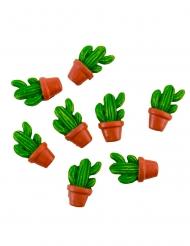 8 Cactus en pot adhésifs 3 x 2,8 cm