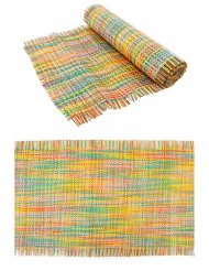 Chemin de table natte multicolore 30 cm x 3 m
