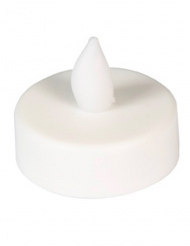 6 Bougies chauffe-plat à LED blanches 4 cm