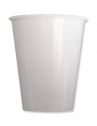 8 Gobelets en carton compostable ivoire 250 ml