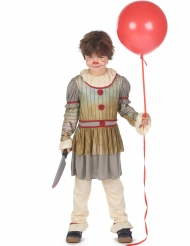 Déguisement clown terrifiant gris garçon