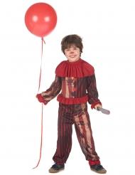 Déguisement clown terrifiant rouge garçon