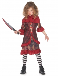 Déguisement clown terrifiant rouge fille