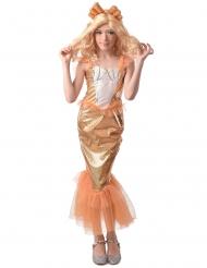 Déguisement sirène orange fille