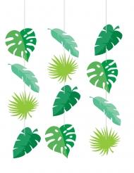 3 Suspensions en carton feuilles tropicales 76,2 x 15,2 cm