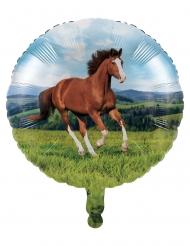 Ballon en aluminium Jolis chevaux 46 cm