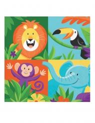 16 Serviettes en papier Jungle Safari 33 x 33 cm
