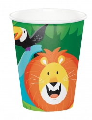 8 Gobelets en carton Jungle Safari 260 ml
