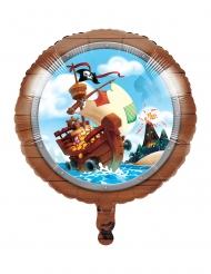Ballon en aluminium Trésor de pirate 46 cm