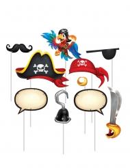 Kit photobooth Trésor de pirate 10 accessoires