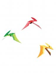 3 Suspensions en carton Petits dinosaures 81 x 18 cm