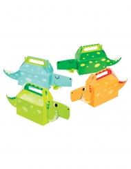 4 Boîtes cadeaux en carton Petits dinosaures 32 x 13 x 6 cm