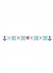 Bannière en carton Ahoy Baby Petit bateau 188 x 14 cm