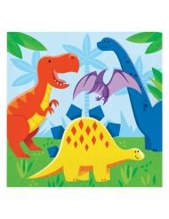 16 Serviettes en papier Petits dinosaures 33 x 33 cm