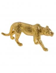 Figurine en résine léopard 11 x 5 cm