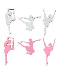 10 Confettis de table en bois ballerine 1 x 2 cm