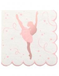 20 Serviettes papier ballerine 25 x 25 cm