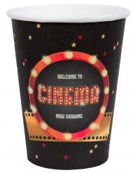 10 Gobelets carton Hollywood 7,8 x 9,7 cm