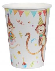 10 Gobelets en carton safari party 7,8 x 9,7 cm